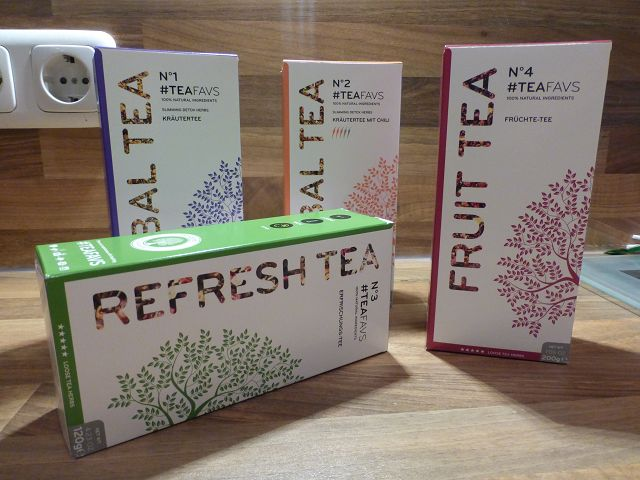 Produkttest: verschiedene Teesorten von Amapodo im Test